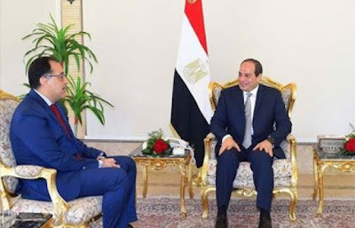 السيسي و مصطفى مدبولي