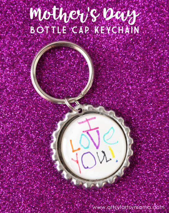 Diy mother s day bottle cap keychain artsy fartsy mama