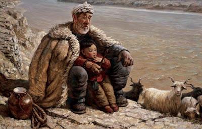 قصة الجد العجوز والحفيد