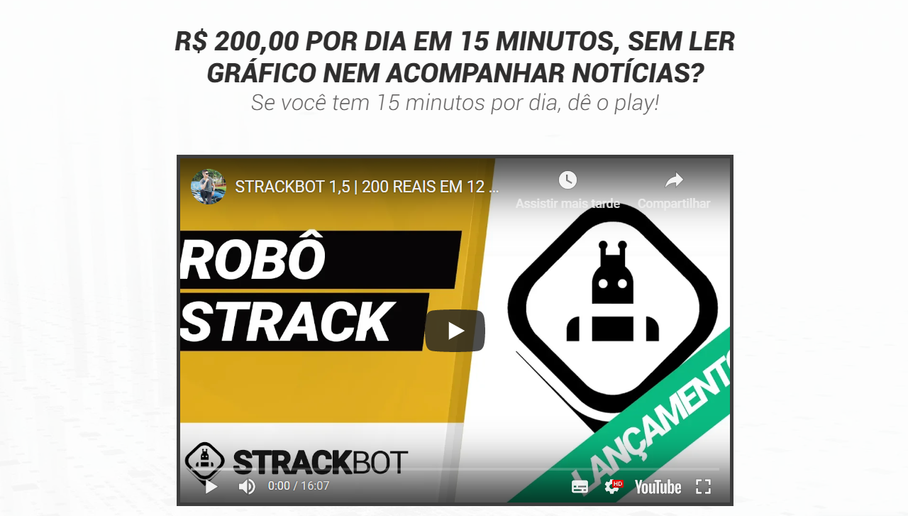 StrackBot - Robô Trader