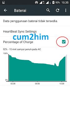 Cara Mudah Menampilkan Persentase Baterai di bar Android