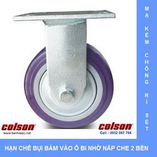 Bánh xe nhựa PU 150 chịu tải trọng cao 370kg | S4-6208-925P www.banhxepu.net