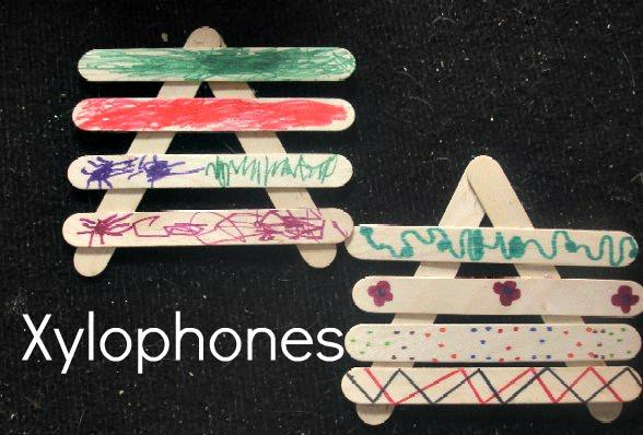 Noisy Week: Popsicle Stick Xylophones