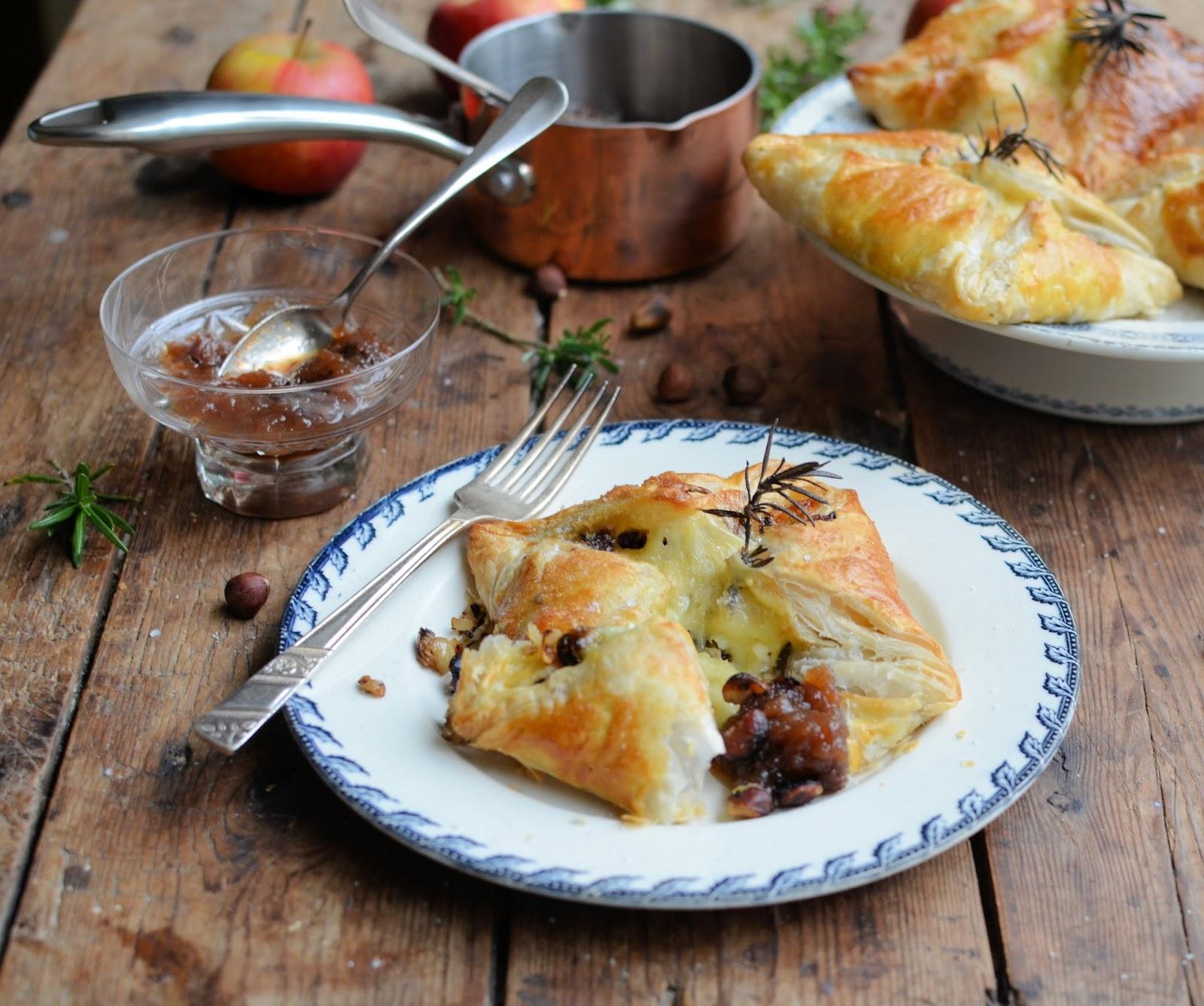Camembert & Hazelnut Parcels with Quick Fruit Chutney