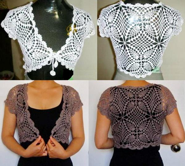 Beautiful Lace Bolero Free Crochet Patterns Dancox For