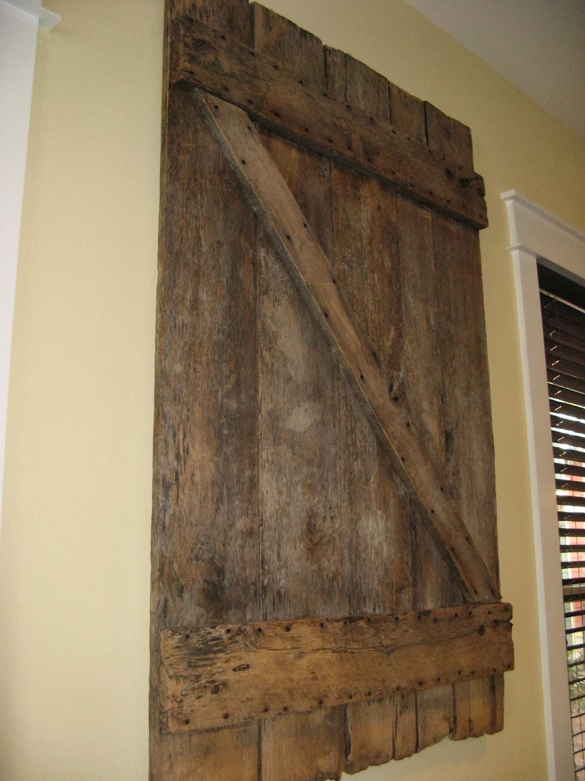 Susan Snyder: BARN DOOR WALL ART
