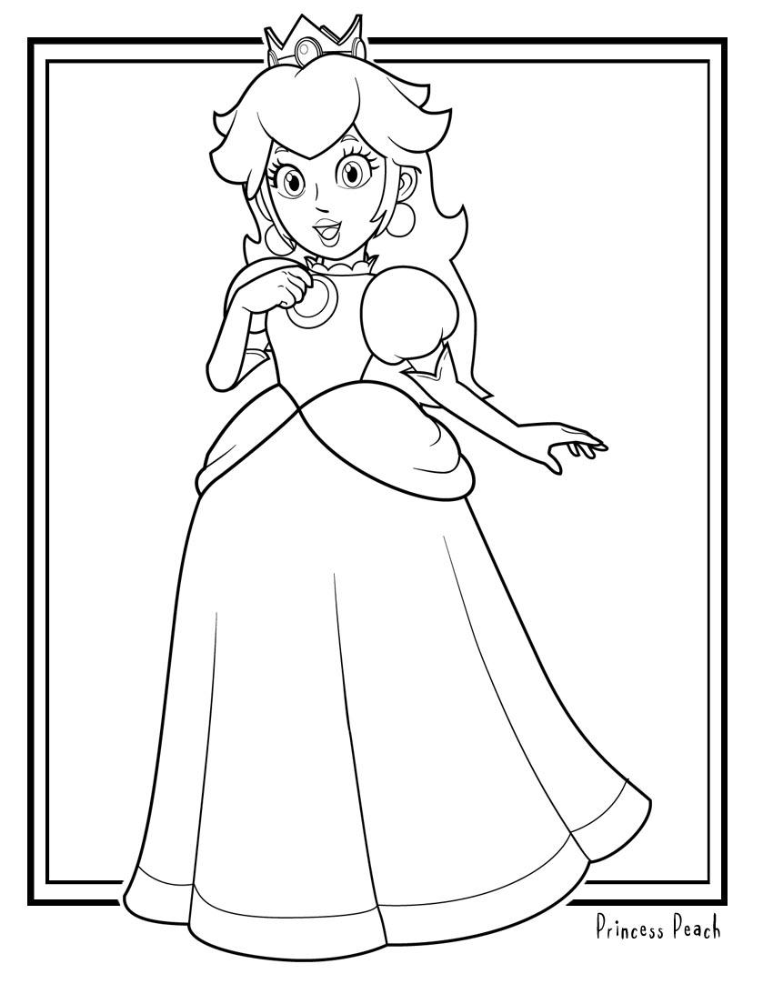 Desenhos Da Princesa Do Mario Para Colorir on Mario Bros Imagens Para Colorir