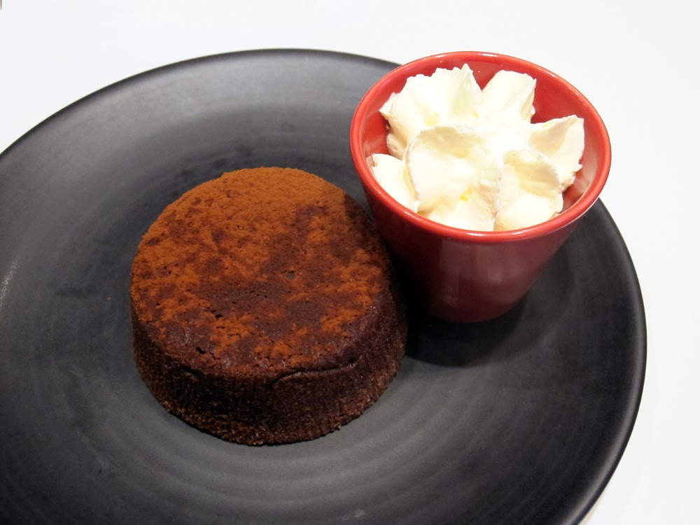 organic chocolate fondant at Cafe Kousmichoff