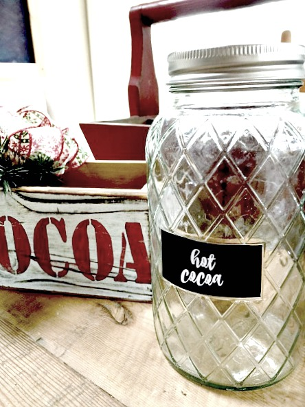 Portable Hot cocoa station as a holiday gift