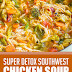 Super Detox Southwest Chicken Soup #detoxsoup #healthysoup