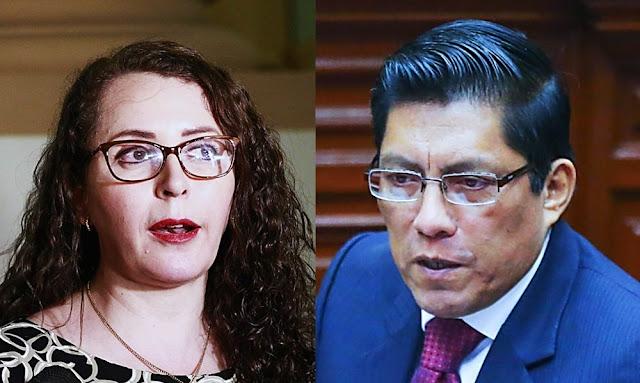 Rosa Bartra pide a Vicente Zeballos que evalúe su permanencia como Ministro de Justicia