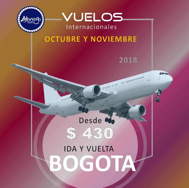 imagen Bogota vuelos desde caracas octubre y noviembre