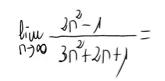 10. Límite de una sucesión (cociente de polinomios) 5
