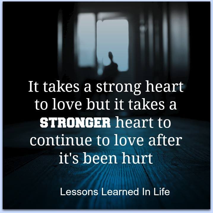 Strong Love Quotes For Him: It Takes A Strong Heart To Love But It Takes A Stronger