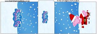 Etiqueta Tic Tac para imprimir gratis de Peppa Pig en Navidad.