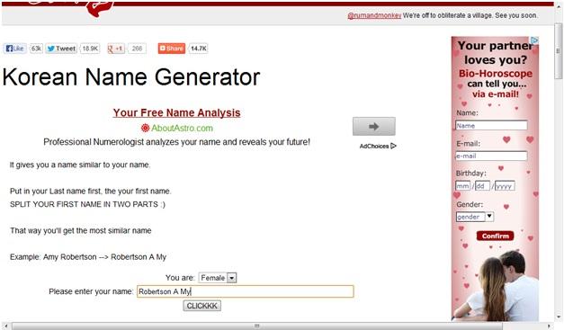 GG World Story: How to use Korean Name Generator?