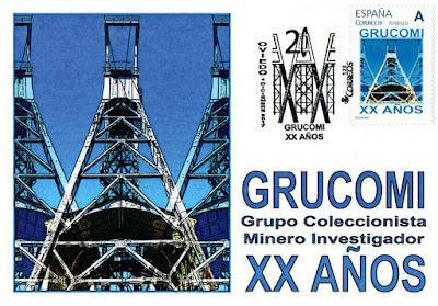 Tarjeta con sello personalizado del 20 aniversario de GRUCOMI