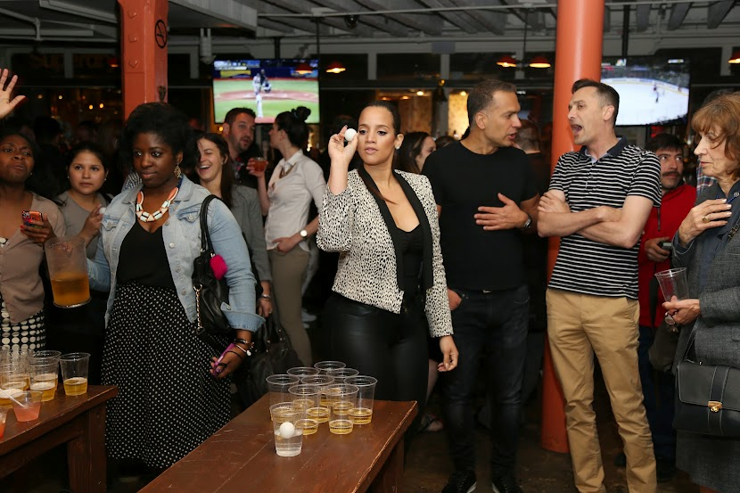 Star of Orange is the New Black, Dascha Polanco at the Grand Opening of Ambrose Beer and Lobster