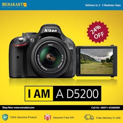 Nikon D5200 - 24.1 MP, CMOS SLR Camera
