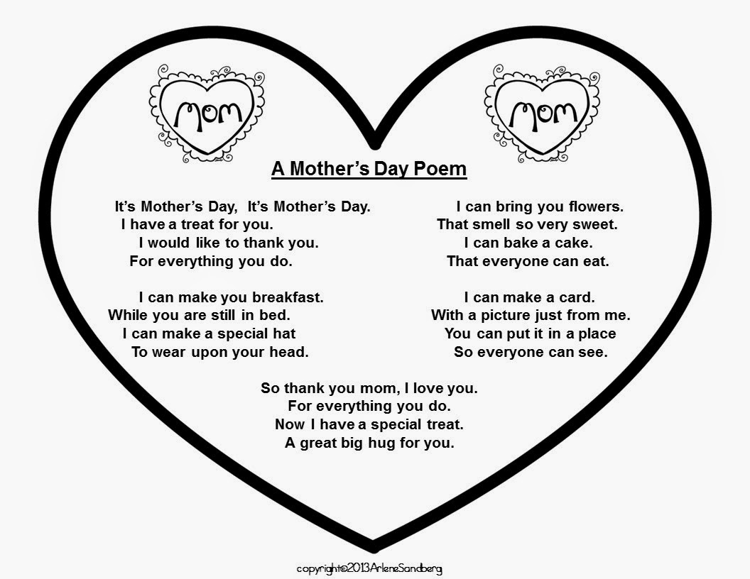 Classroom Freebies: Mother's Day Poem