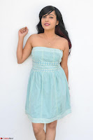 Sahana New cute Telugu Actress in Sky Blue Small Sleeveless Dress ~  Exclusive Galleries 021.jpg