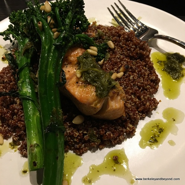salmon with quinoa at The Bear's Lair Tavern in Berkeley, California