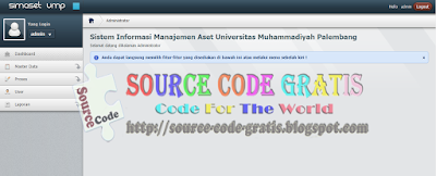 Free Download PHP Source Code Sistem Informasi Manajemen Aset Kampus