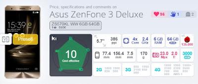 Asus ZenFone 3 Deluxe Skor AnTuTu Benchmark 135.000