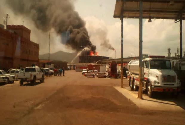 Reportan explosión de un tanque en complejo petroquímico de Anzoátegui