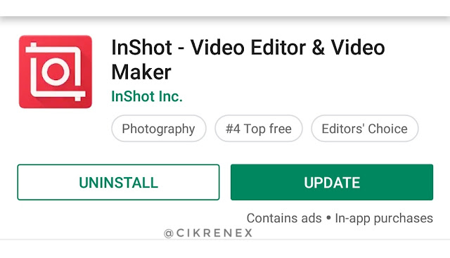 Edit video guna handphone