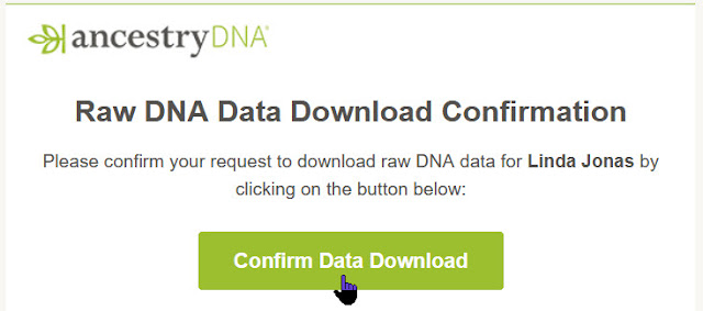 Ancestry DNA download confirm