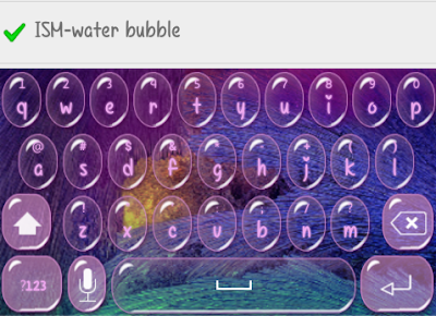 bubble keyboard skin