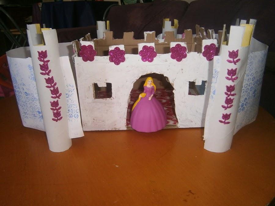 Diy hacer un castillo con una caja de carton manualidades - Como hacer una caja con carton ...