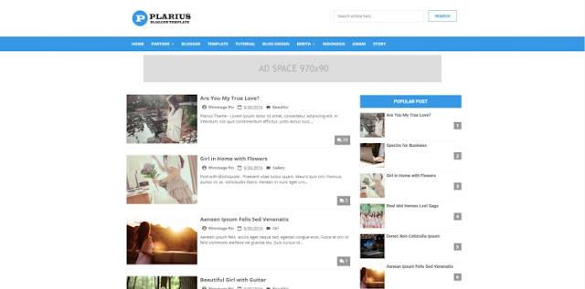 plarius blogger template