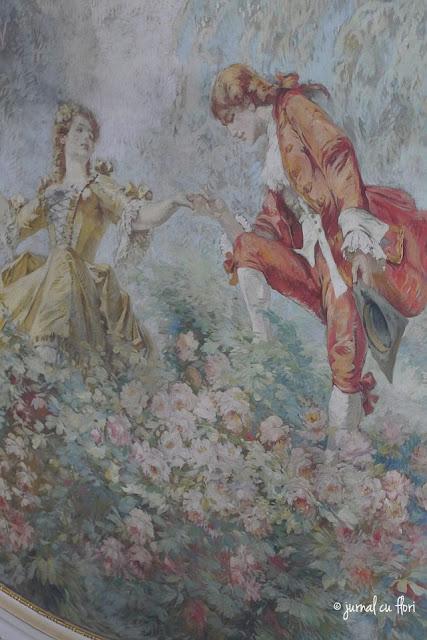 pictura pe tavan - palatul camerei de comert din Bucuresti
