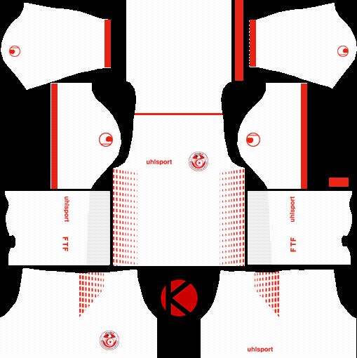 0728f78e98f Tunisia 2018 World Cup Kit - Dream League Soccer Kits - Kuchalana