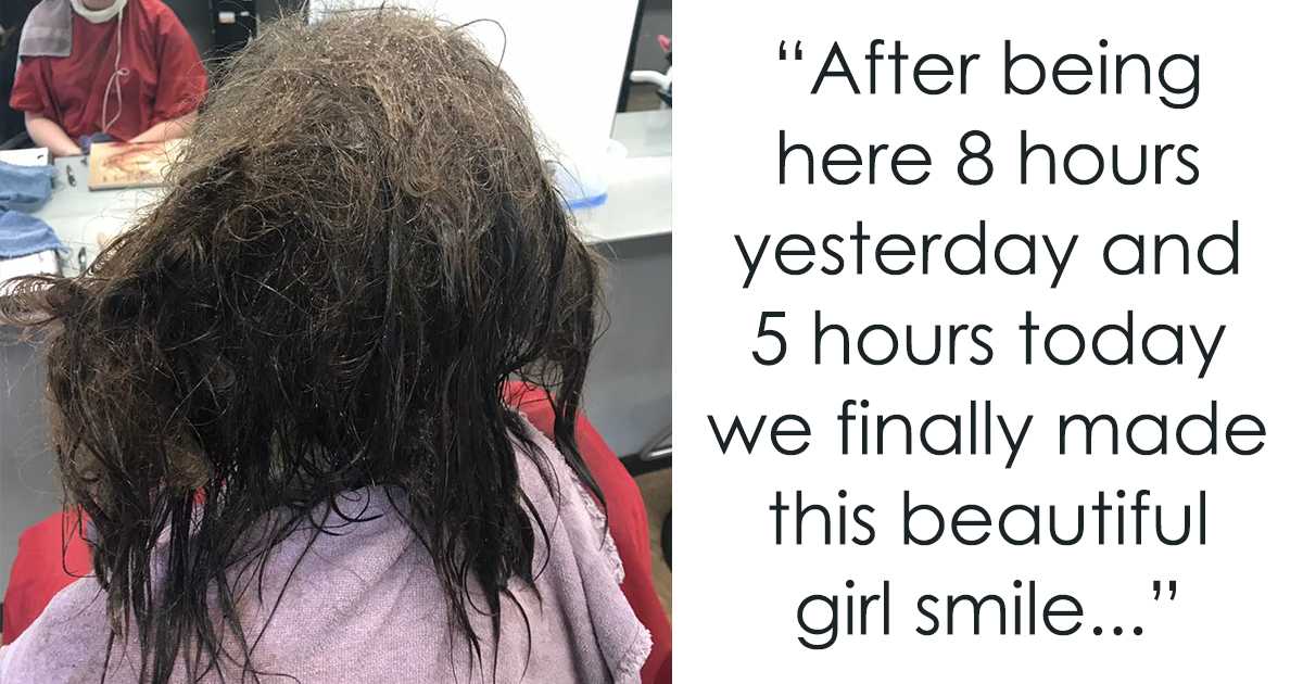 Instead Of Shaving This Depressed Teen's Hair, A Hairdresser Spent 13 Hours Fixing It