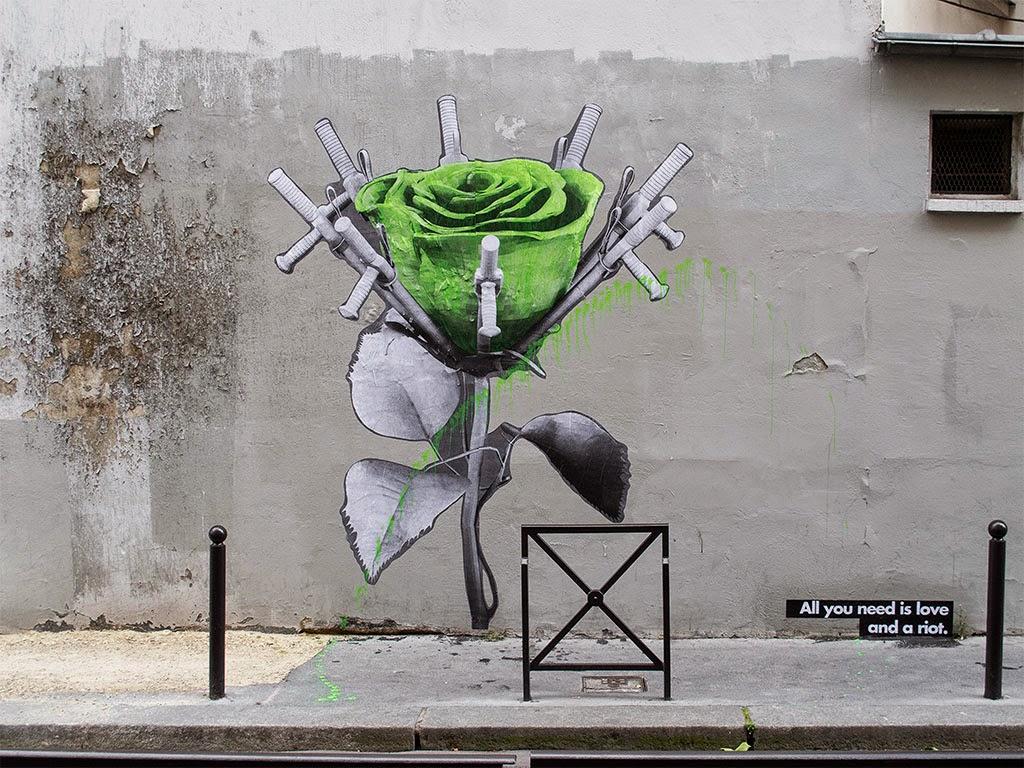 ludo love and riot new pieces paris france streetartnews streetartnews. Black Bedroom Furniture Sets. Home Design Ideas