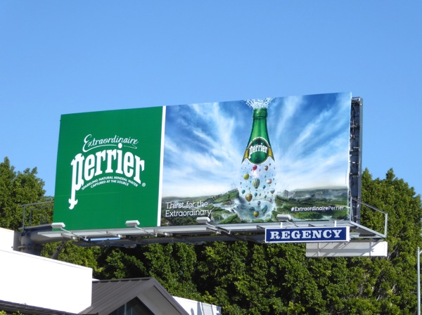 Perrier Extraordinaire sparkling water billboard