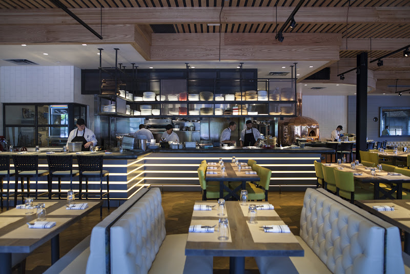 Slate wood grilled cuisine and open air dining in the