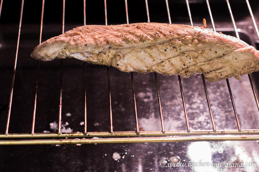 Schweinslungenbraten im Ofen
