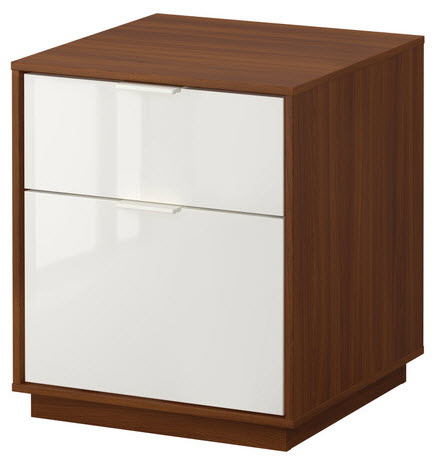 IKEA Nyvoll brown nightstand Stuff I have Pinterest