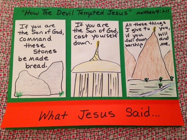 Temptations Of Jesus Children S Crafts