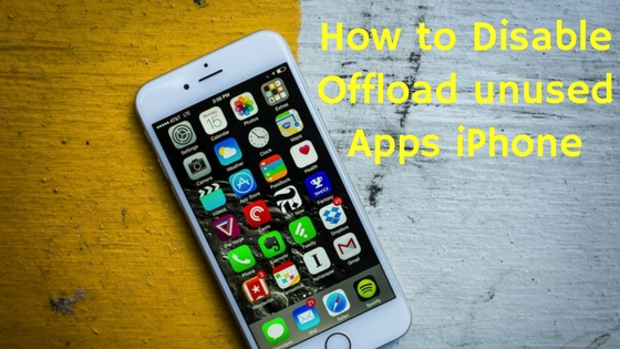 how to disableunused apps iphone