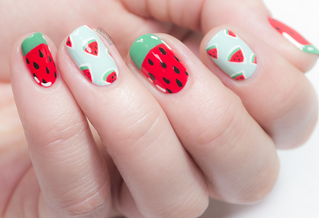 Summer Season Watermelons by Nailed It @ www.blognailedit.co