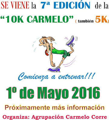 10k y 5k de Carmelo (Colonia, 01/may/2016)