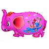 Balon Foil Karakter Gajah Pink