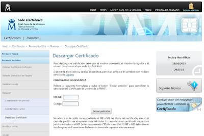 Pantallazo descarga de certificado