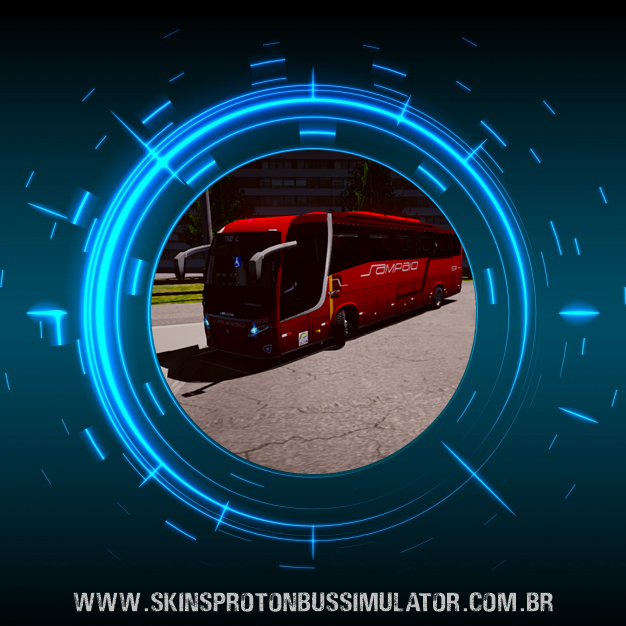 Skin Proton Bus Simulator Road - New Vissta Buss 360 MB O-500RS BT5 Viação Sampaio