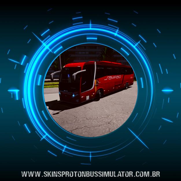 Skin Proton Bus Simulator Road - New Vissta Buss 360 MB O-500RS BT5 Viação Sampaio